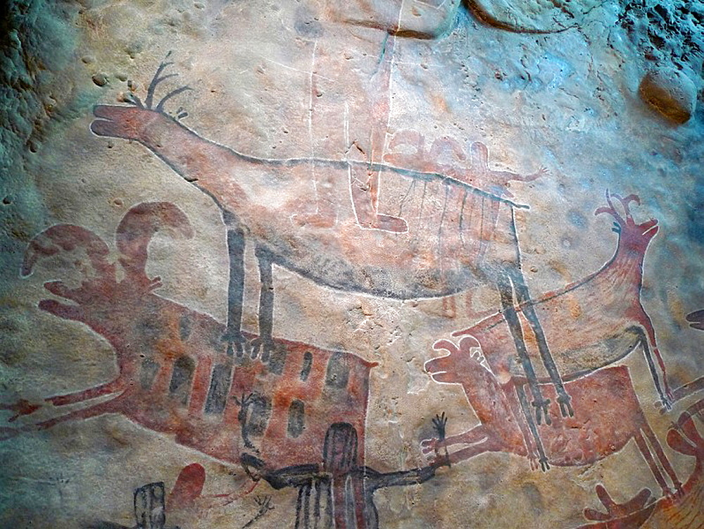 Cave art, Anthropology National Museum, Mexico City