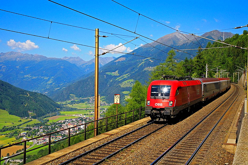 Two-track south-ramp of the Tauern railway, Austria