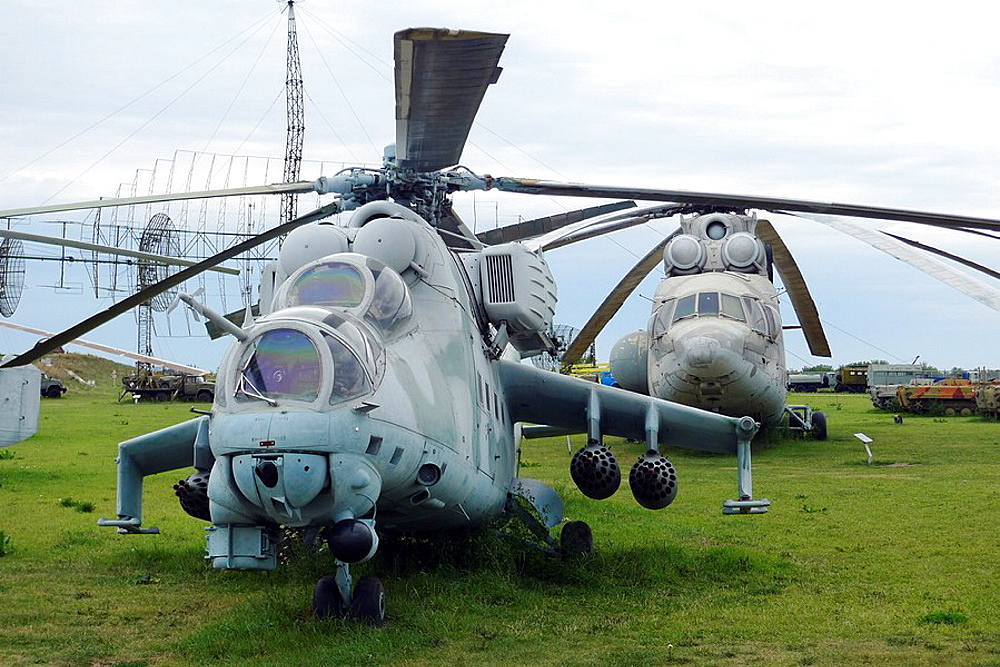 Helicopters in the Technical Museum in Togliatti, Samara Region
