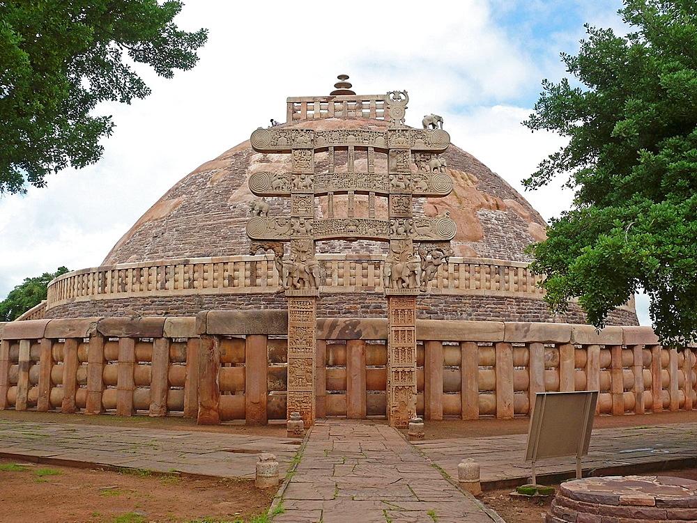 Landscape view of Sanchi Stupa No, one, Sanchi, Madhya pradesh, India