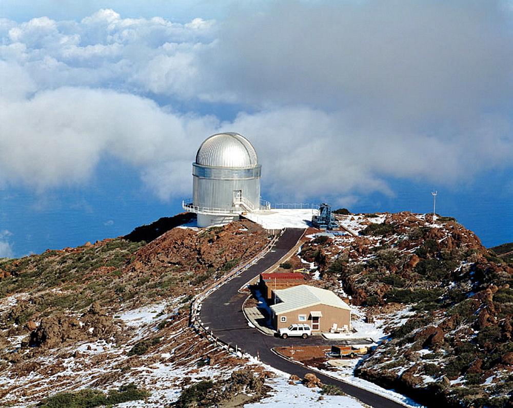 Spain, Canary Islands, La Palma, Roque de los Muchachos, astronomical observatory, observatory, rocky landscape