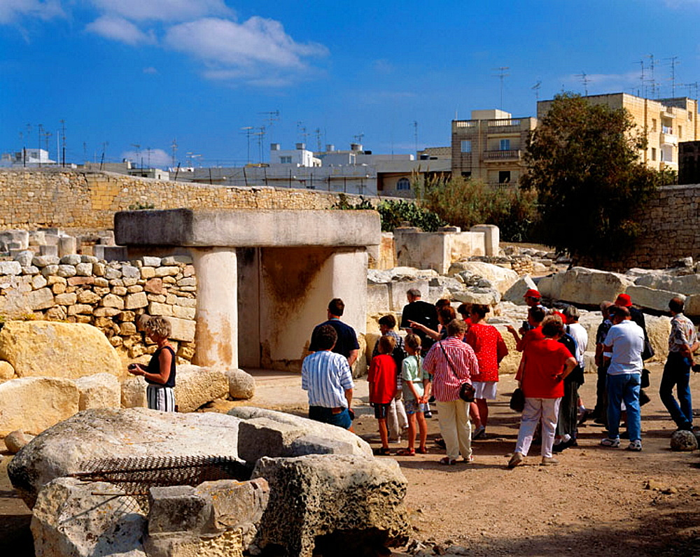 Malta, Tarxien, temple, Neolithic period, tourists