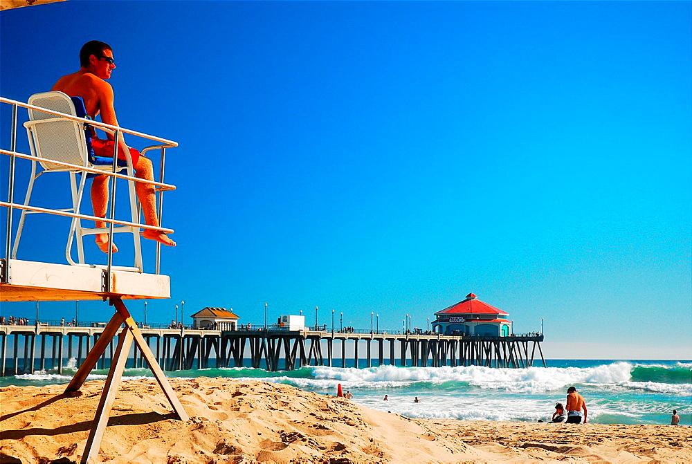 Lifeguard, On Duty, Huntington Beach, CA