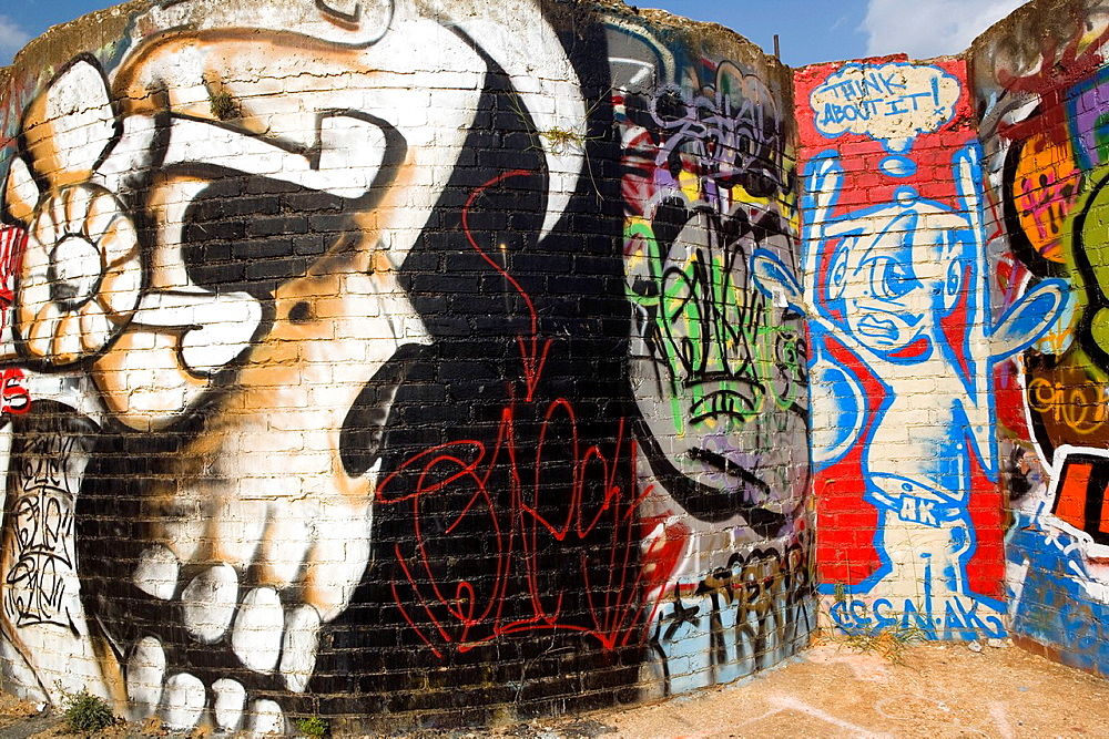 Graffiti, River Arts District, Asheville, North Carolina, USA