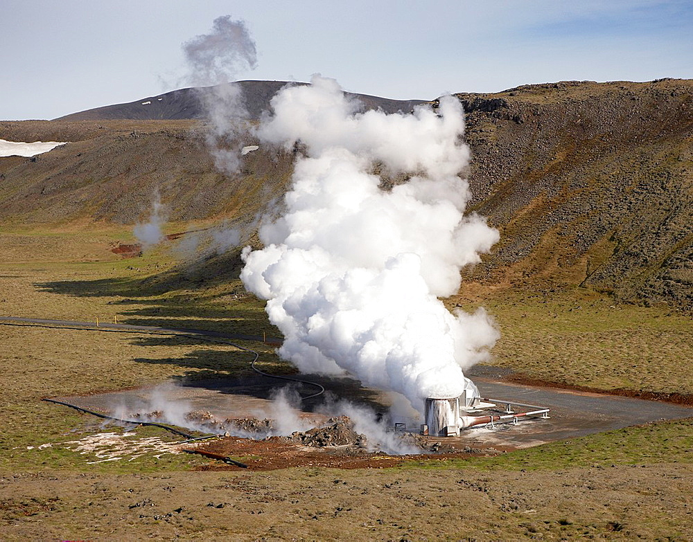 Pipes and Boreholes at Hellisheidi Geothermal Power Plant, Iceland - 817-327019