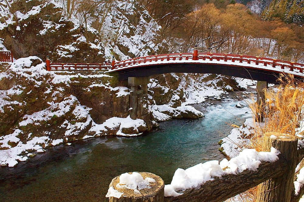 Shinkyo sacred bridge, Nikko, Japan