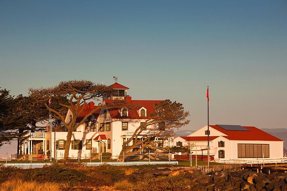 USA, California, Northern California, North Coast, Samoa, US Coastguard Station, Humbolt Bay