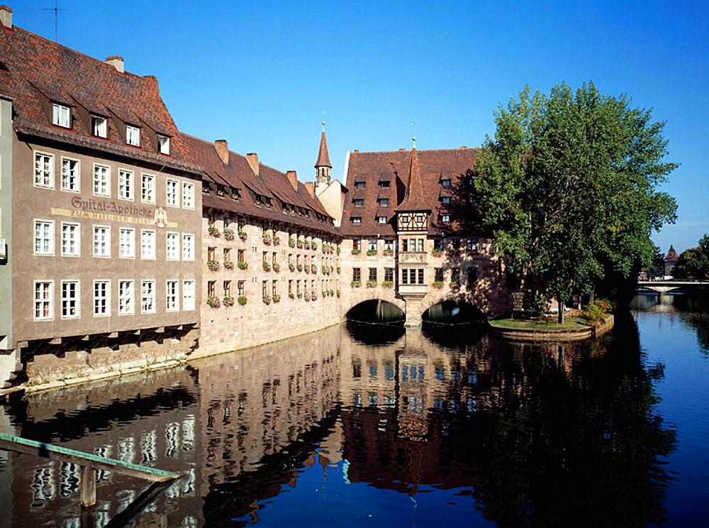 Holy Spirit Hospital, Nurnberg, Pegnitz, Franconia, Bavaria, Germany