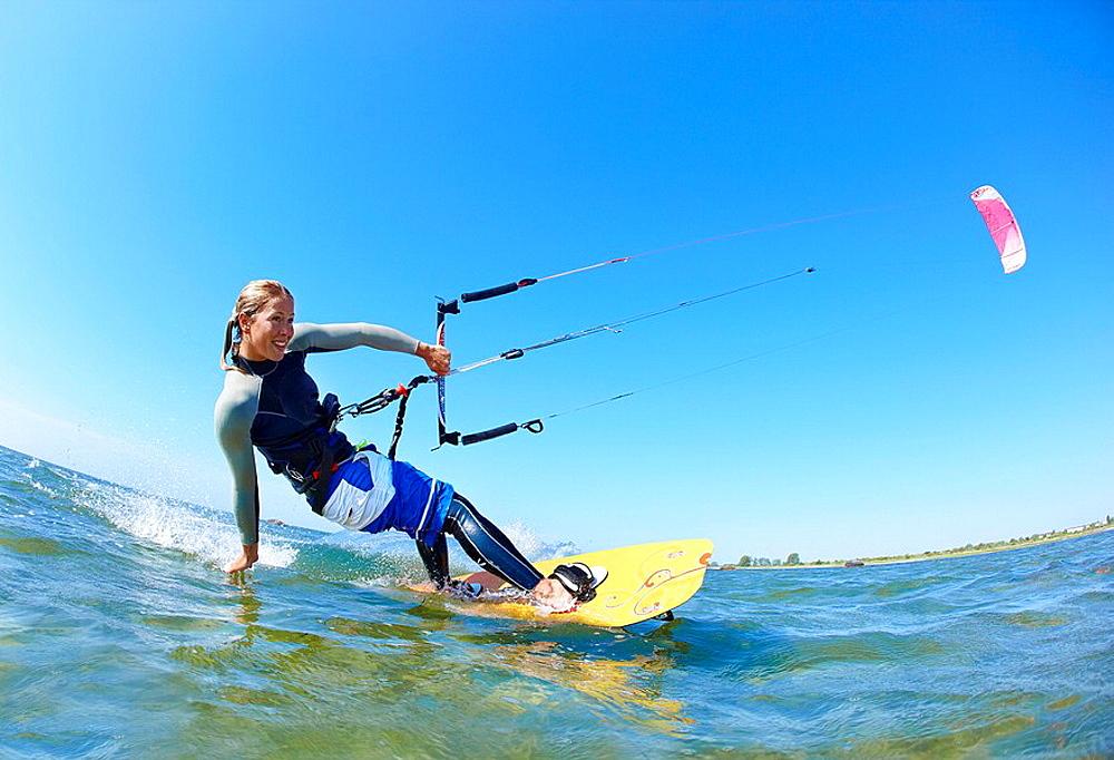 Female kitesurfer, Female kitesurfer