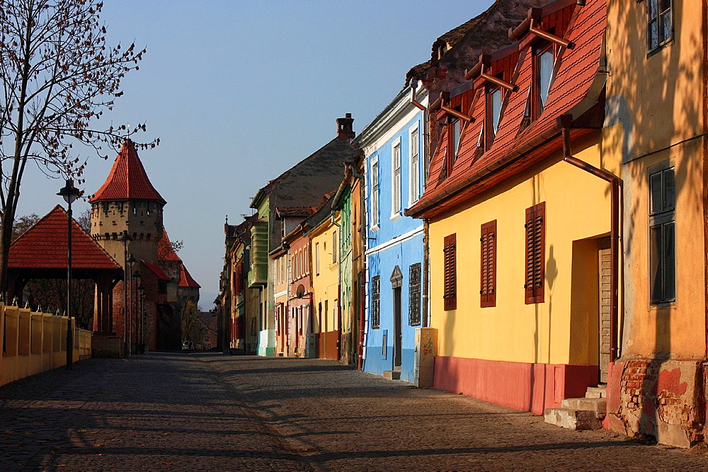 Traditional Houses in Sibiu, Romania - 817-340070