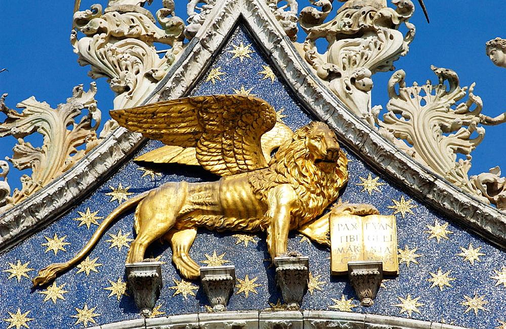 St, Mark's Basilica, detail, Venice, Veneto, Italy