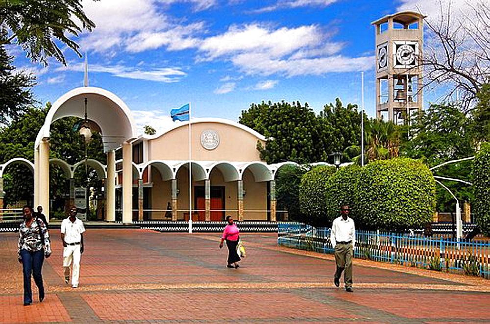 Parliament building at Gaborone, Botswana