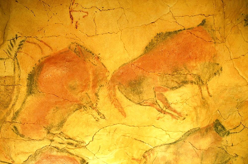 Prehistoric painting of the Altamira cave, Santander, Spain