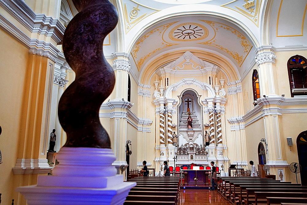 Interior of St Joseph Church, Macau, China