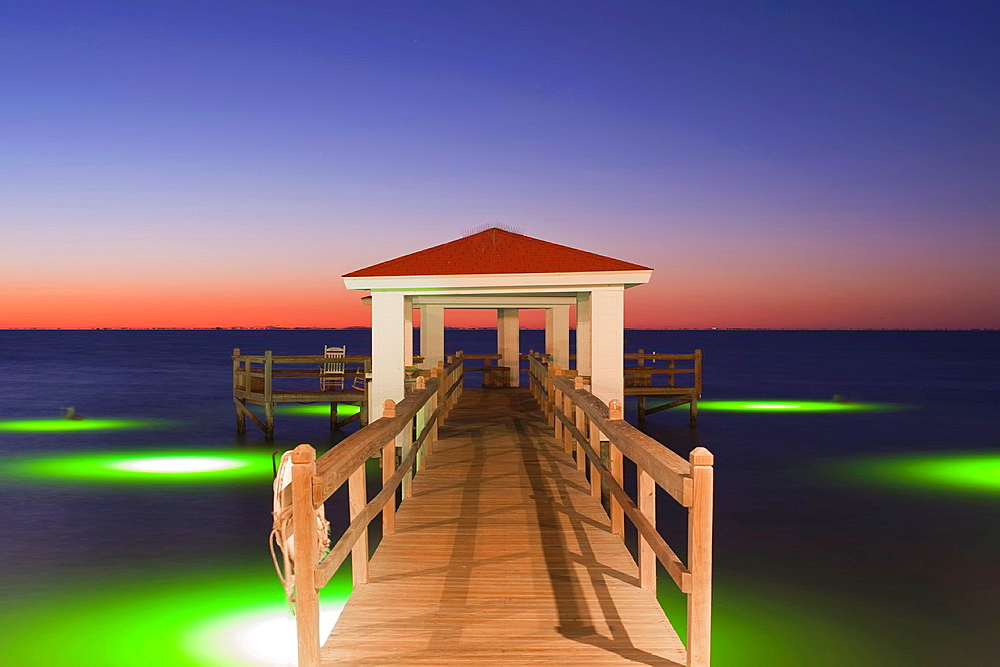 Fishing Pier at the Texas Gulf Coast - 817-345155