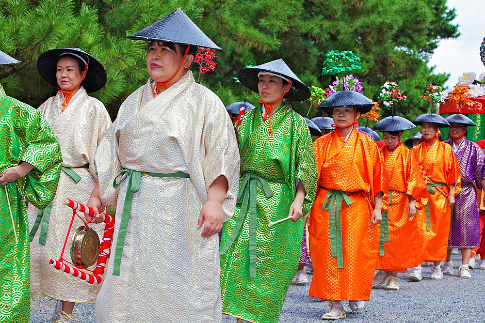 Costumed participants in the Jidai Matsuri - 817-346930