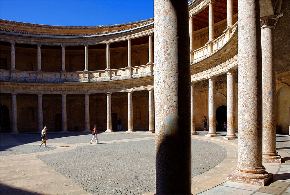 Charles V's palace, Alhambra Granada, Andalusia Spain