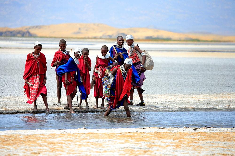 Maasai people, Lake Natron, Tanzania - 817-348714