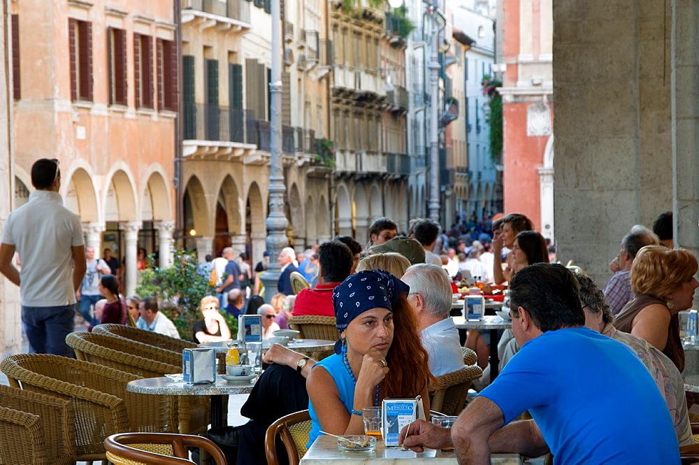 Italy, Veneto, Treviso, Signori square, loggia Palazzo dei Trecento.