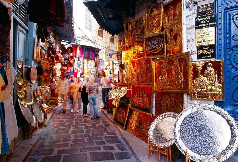 Souk (market) of the medina, Tunis, Tunisia