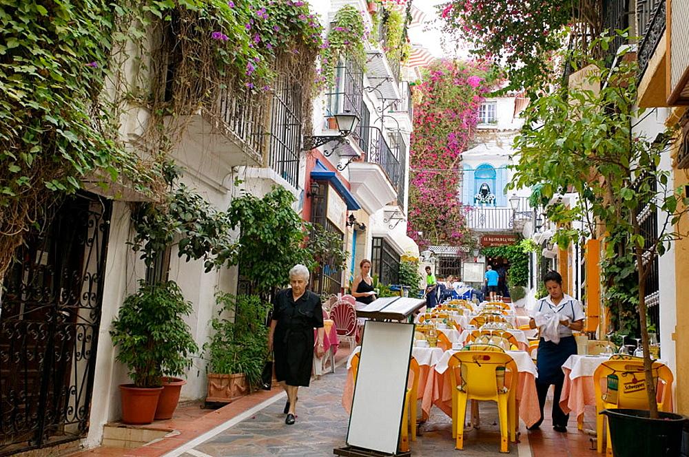 'Rincon de la Virgen' in old town, Marbella, Malaga province, Costa del Sol, Andalucia, Spain