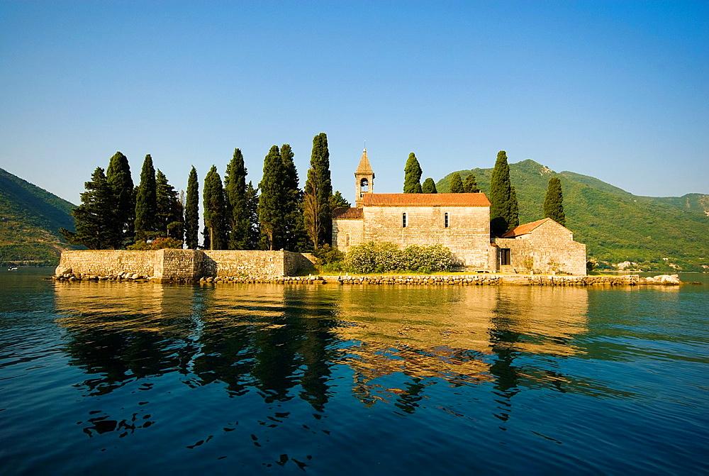 Montenegro, Kotor bay, Perast, St George island.
