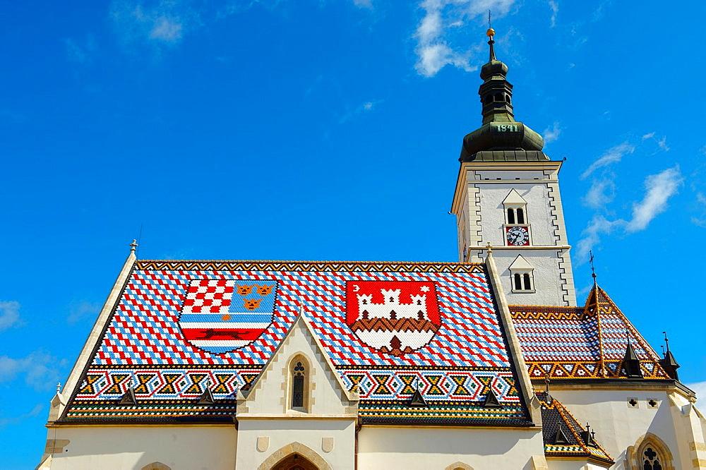 Late Gothic church of St Mark's Church Crkva sv Marka, Zagreb, Croatia - 817-354976