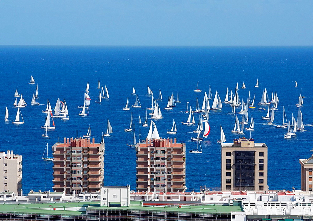 Over 200 yachts at the start of The 2011 ARC Atlantic Rally for Cruisers transatlantic race from Las Palmas, Gran Canaria, to Rodney Bay on Santa Lucia in The Caribbean Sunday, 20, November 2011