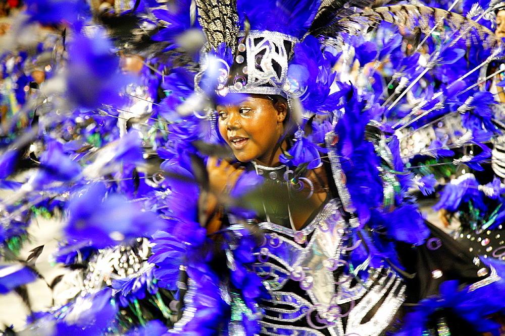 Carnival parade at the Sambodrome, Rio de Janeiro, Brazil