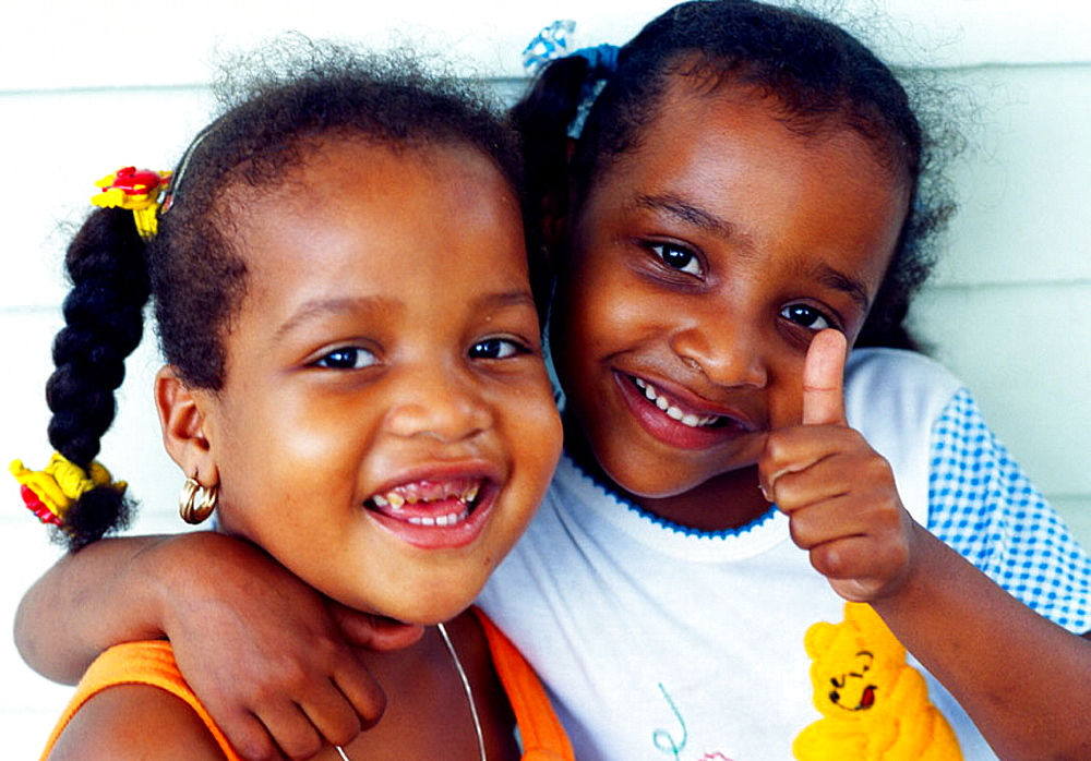 Girls, Mahe Island, Seychelles
