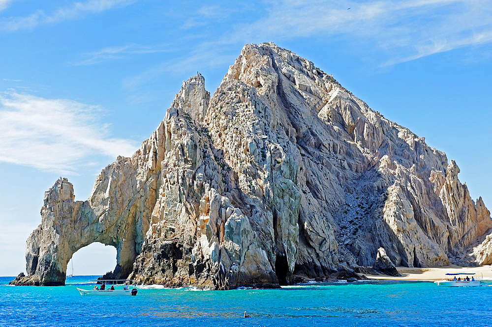 View of Land's End arch on the southern tip of Baja California. Cabo San Lucas. Baja California. Mexico.