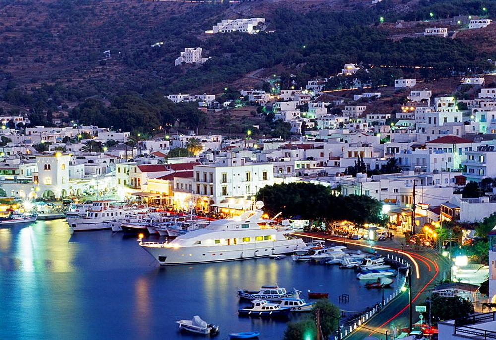 Harbour, Skala, Patmos Island, Dodecanese, Greece