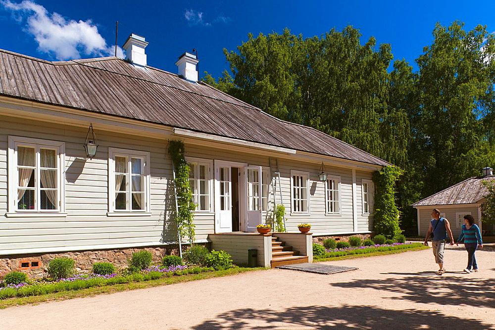 Russia, Pskovskaya Oblast, Pushkinskie Gory, Pushkins House at Mikhailovskoye, the Alexander Pushkin Preserve, estate of famous Russian poet