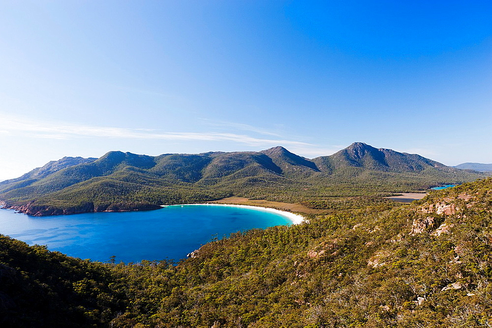 Wineglass Bay in Freycinet NP, Tasmania is considered to be one of the most beautiful beaches in the whole world Australia, Tasmania