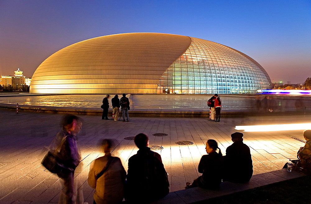 National Opera House building Paul Andreu architect, Beijing, China