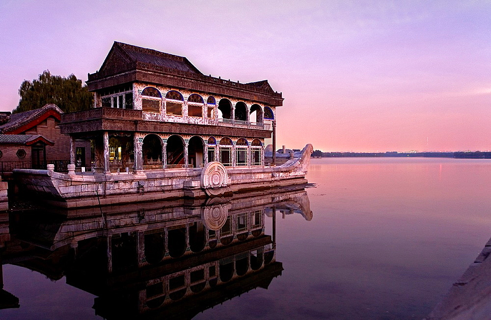 Summer Palace, in Kunming Lake The Marble Boat, Beijing, China