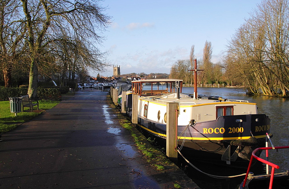 River bank at Henley Oxfordshire