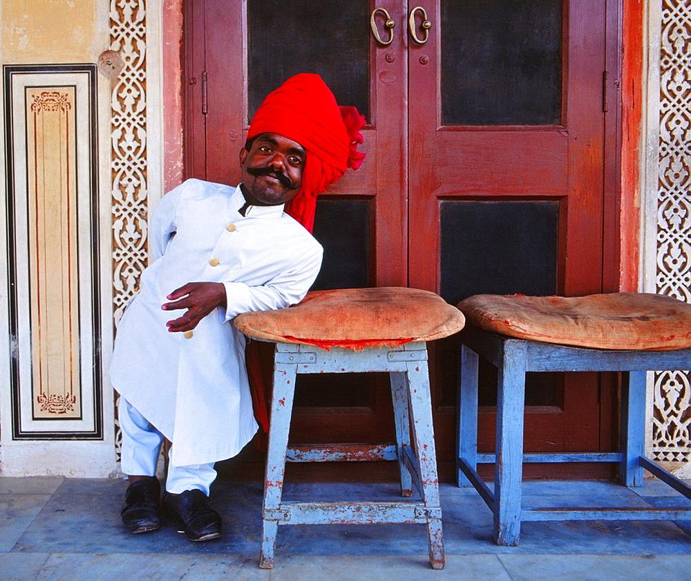 Royal Guard, City Palace, Jaipur, Rajasthan, India