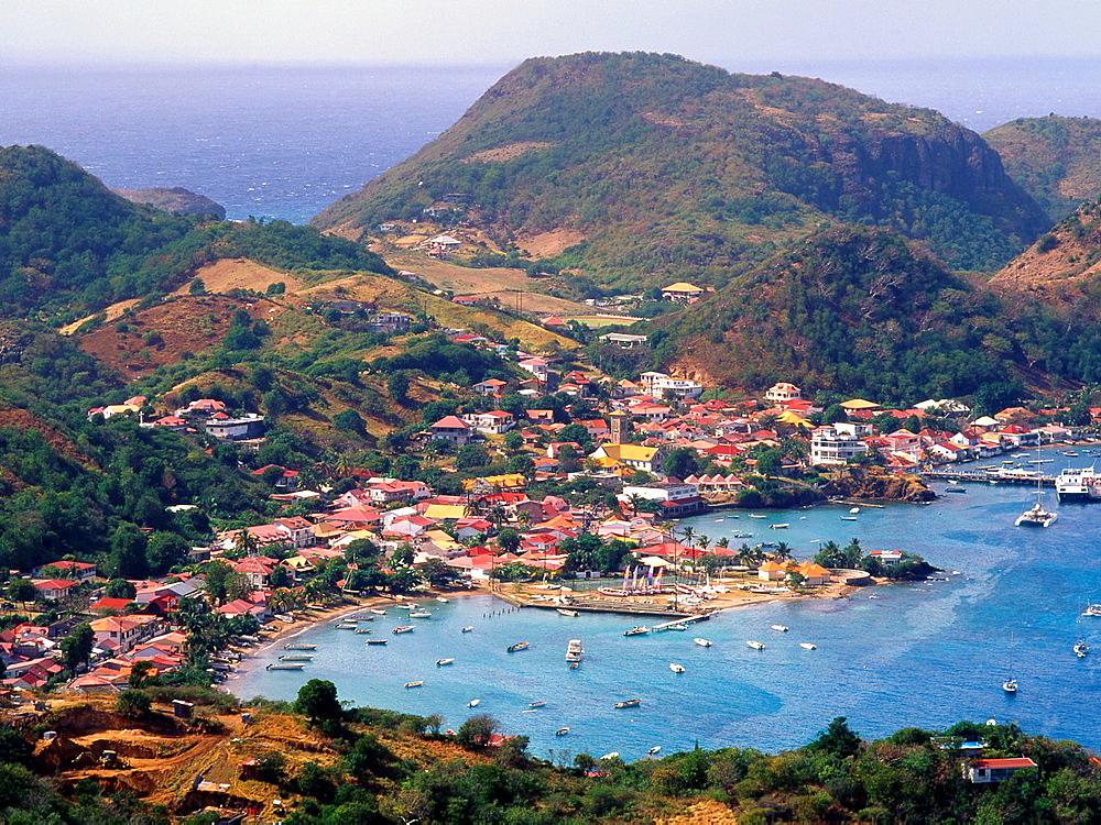 Caribbean, Guadeloupe, Les Saintes, Terre de Haut, Bourg