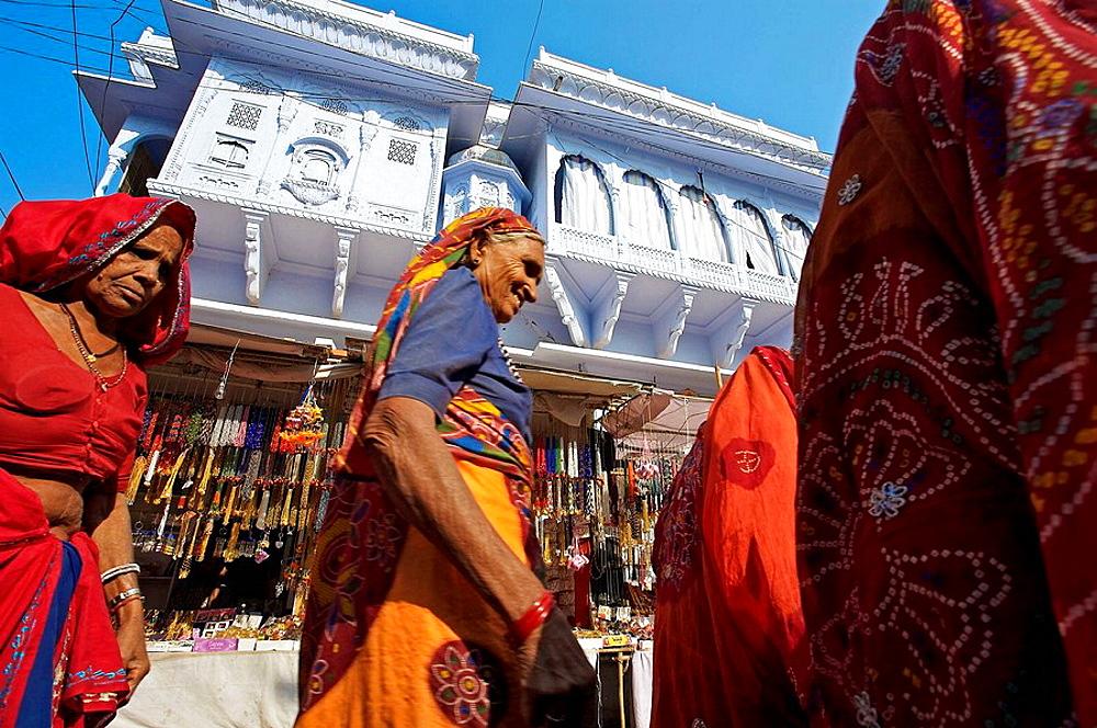Pushkar camel fair, Pushkar, Rajasthan, India, Asia - 817-37416