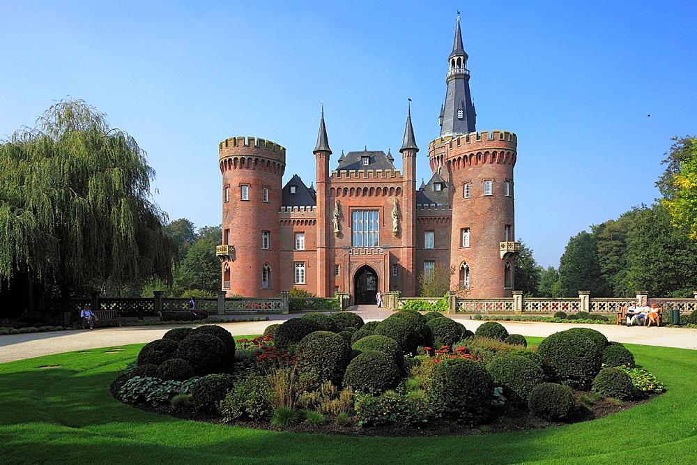 D-Bedburg-Hau, Lower Rhine, Rhineland, North Rhine-Westphalia, NRW, D-Bedburg-Hau-Till-Moyland, Moyland Castle