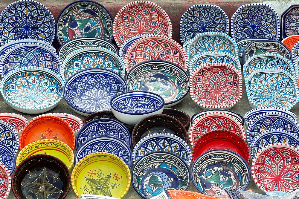 Africa, Tunisia, Nabeul, traditional ceramics