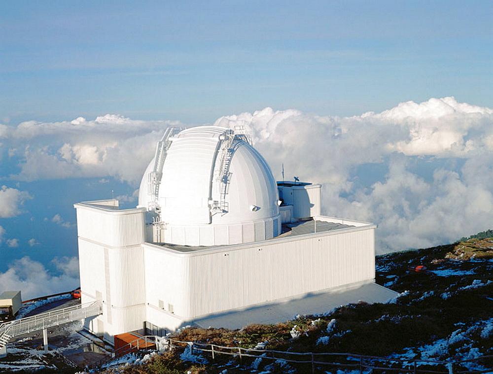 Astronomical observatory at Roque de los Muchachos, La Palma, Canary Islands, Spain