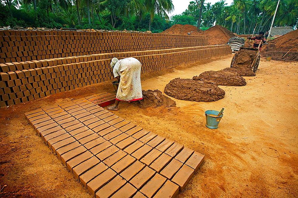 Brick factory, Madurai, Tamil Nadu, India