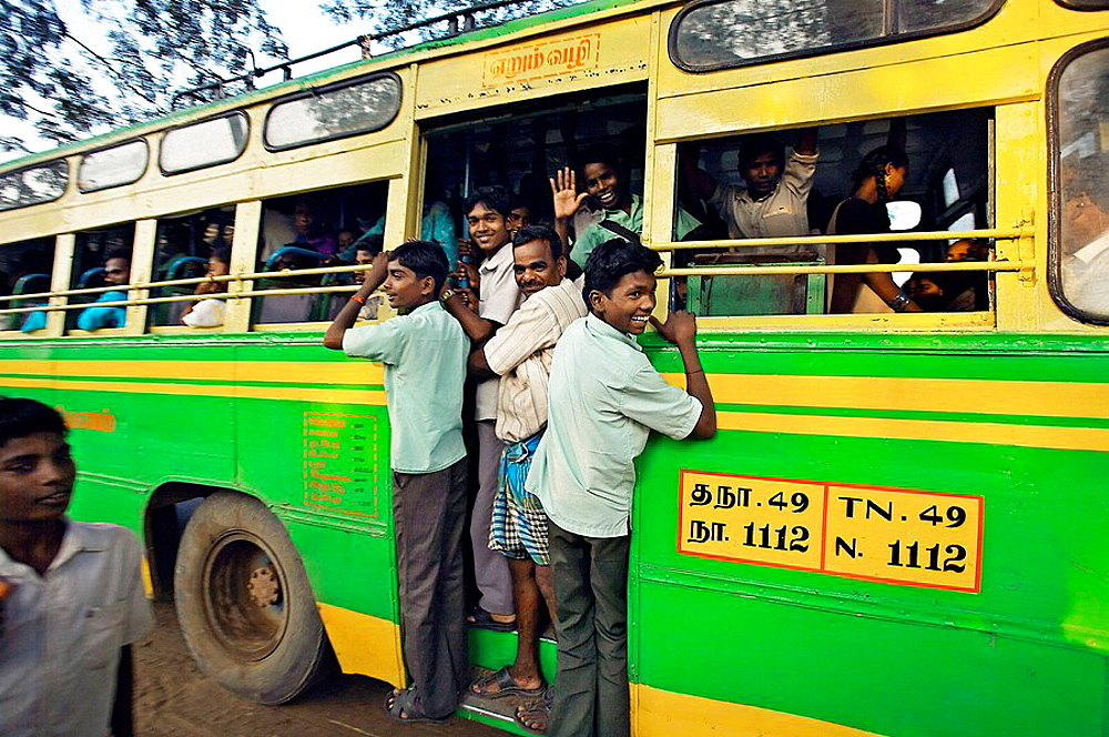 Bus, Pondicherry, Tamil Nadu, India