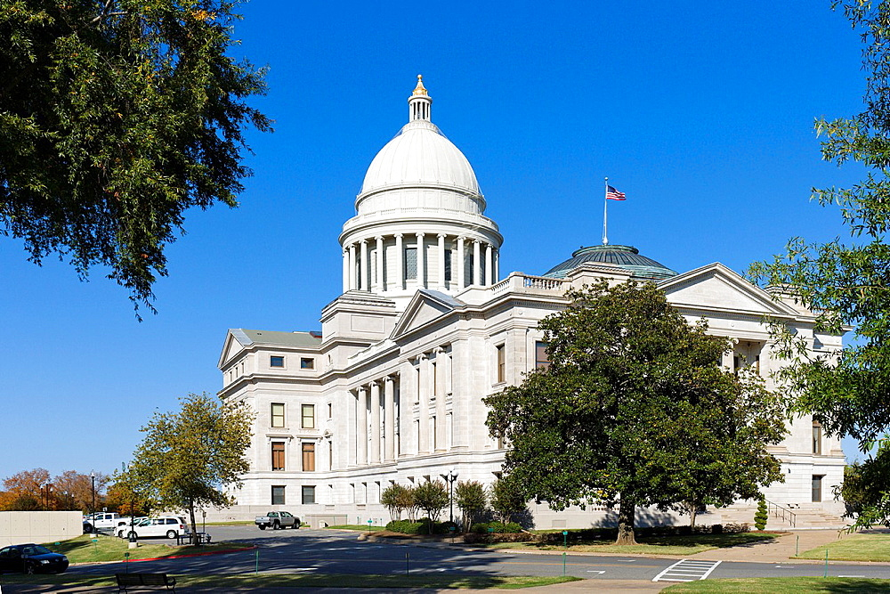 The Arkansas State Capitol Building, Little Rock, Arkansas, USA