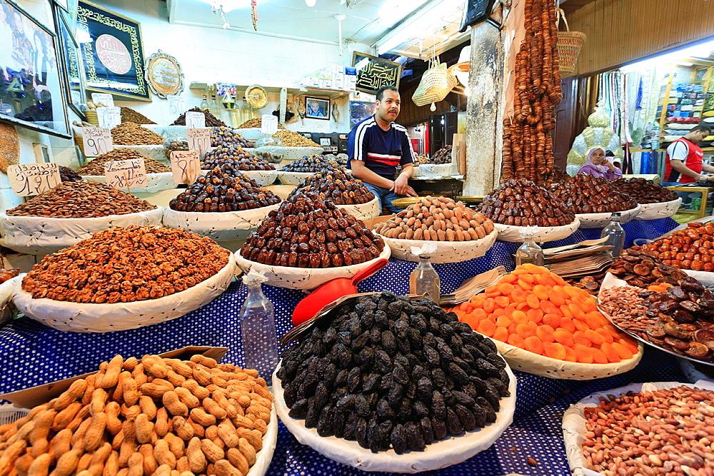 Morocco, Fes, Medina Old Town, Souk Market