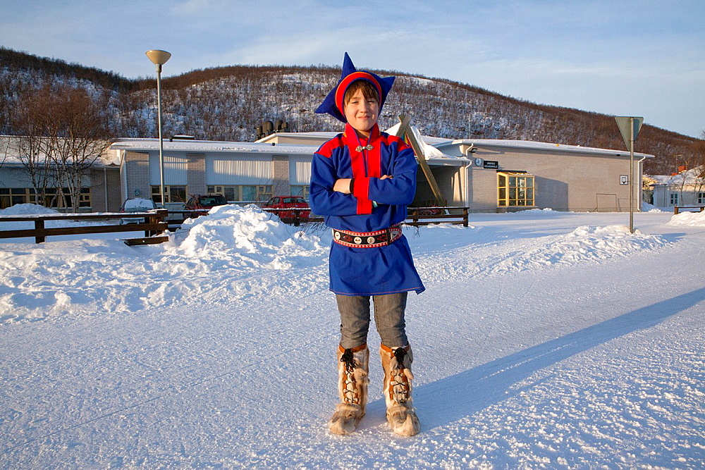 Sami child at school in Northern Finland