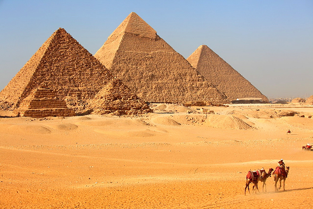 Pyramid complex at Giza, Egypt