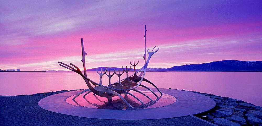 ´Solfar´ Viking ship, Reykjavik, Iceland